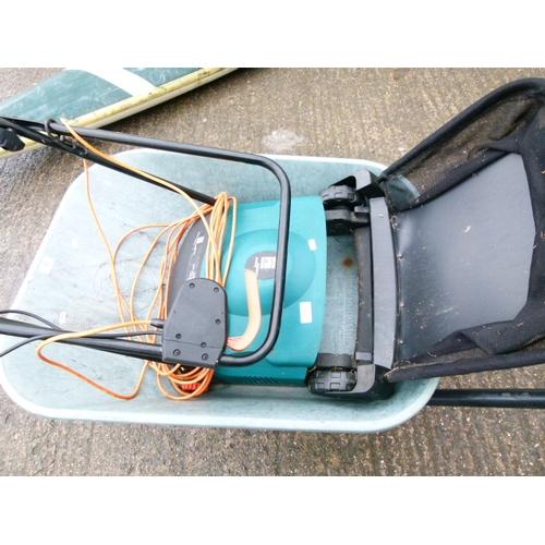 11 - Power Base Electric grass rake with Grass Box...