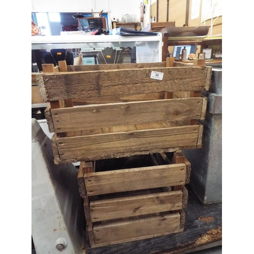 25 - Pair of Wooden Apple Boxes...