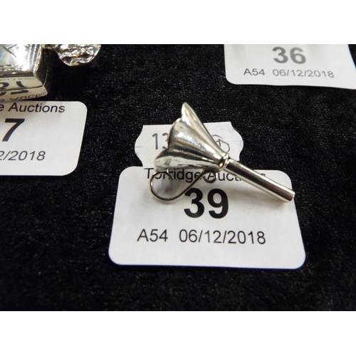 39 - Silver Perfume Bottle Funnel...