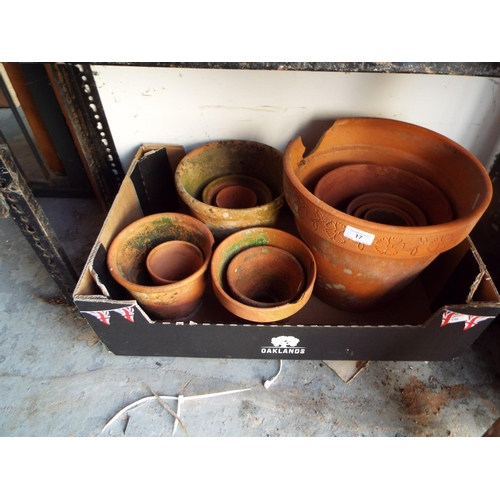 17 - Box of Terracotta Pots some A/F...