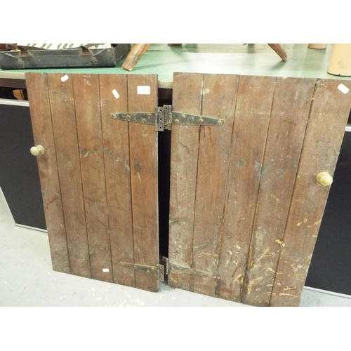 10 - Pair of tongue and groove cupboard doors - each 74x44cm...