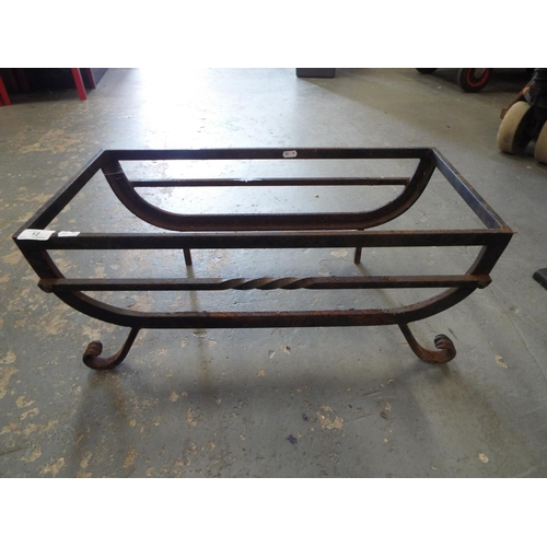12 - Wrought iron fire basket/plant stand...