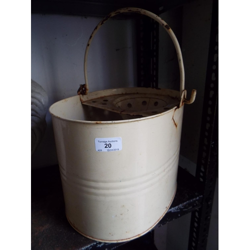 20 - Painted Mop Bucket A/F...