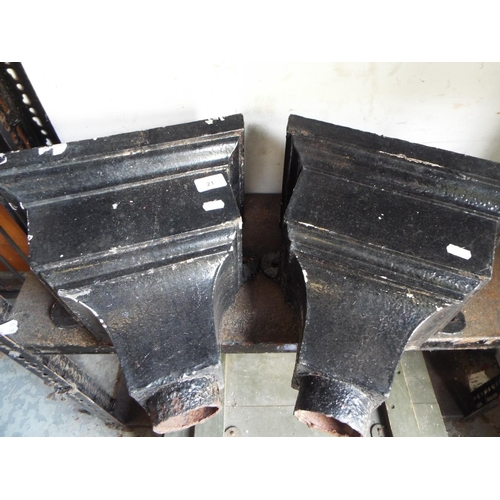 21 - Pair of large cast iron rain water hoppers...