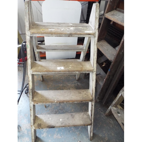 32 - Wooden Double Sided Step Ladder...