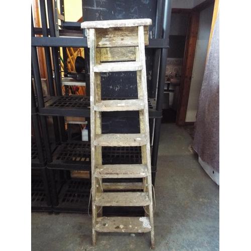 34 - Vintage wooden step ladder...