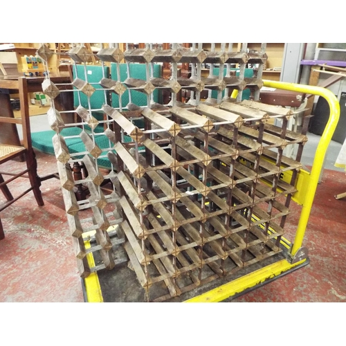9 - Two Large Wine Racks - 72 Bottle and 36 Bottle - A/F...