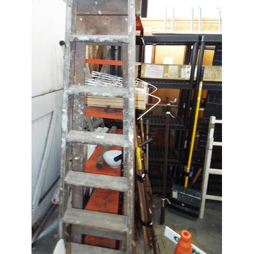 34 - Tall Wooden Step Ladder...