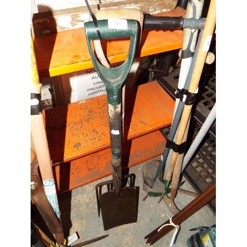 37 - Garden Spade, Fork and Rake....