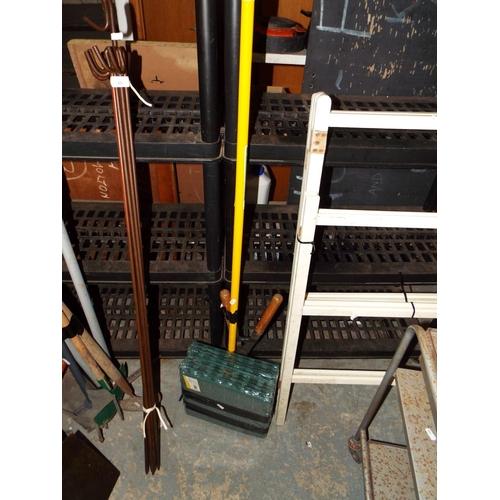 41 - Two Packs (5) Garden Paving Tiles and Garden Rake...