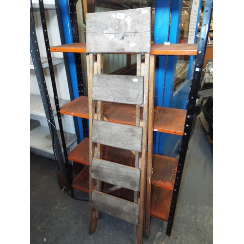 44 - Wooden Post Office Step Ladder...