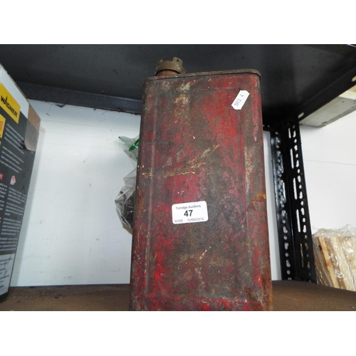 47 - Vintage Petrol Can and Quantity of Keys...