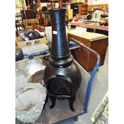 1 - Cast Iron Chimnea/Wood Burner...