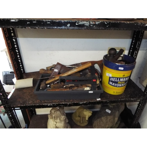16 - Generous Shelf full of Tools and Fixings inc Tow Bar...