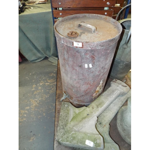 12 - Vintage Paraffin Tank with Tap...