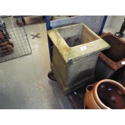 16 - Large 'Chimney Pot' Planter...
