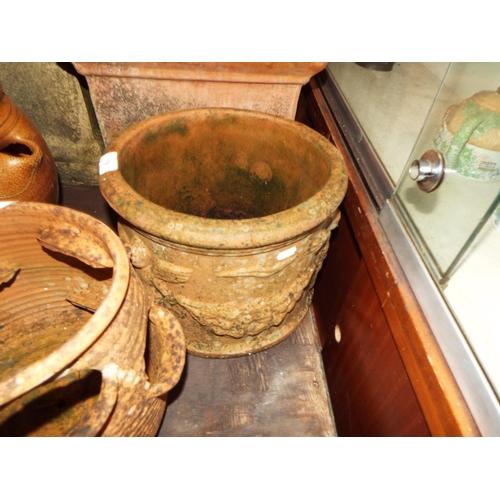 19 - Round Terracotta Planter with Cherubs!...