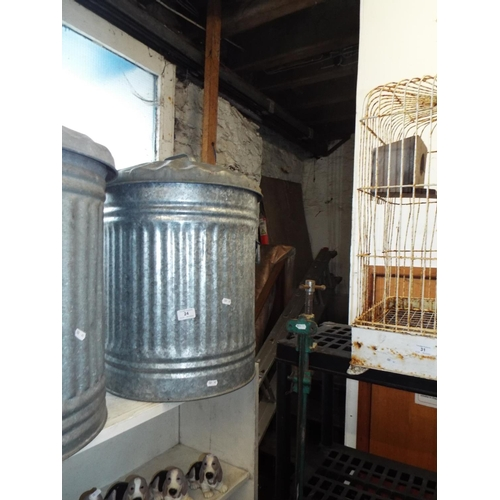 24 - Galvanised Dustbin with Lid...