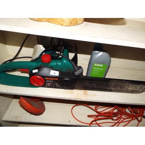 28 - Bosch Electric Chainsaw...