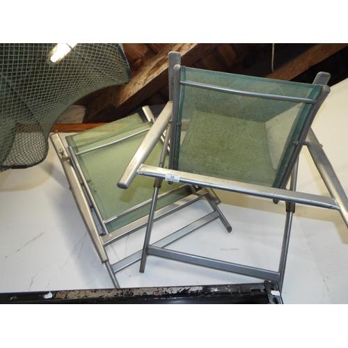 50 - Pair of Metal Framed Folding Garden Chairs A/F...