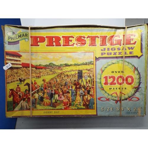 17 - Vintage Philmar Prestige Puzzle - Derby Day  (C24A)