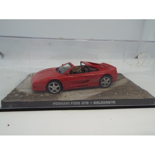 21 - James Bond Ferrari F355 Gts 1/43Rd Car Goldeneye Model Pierce Brosnan K8967Q (C24)