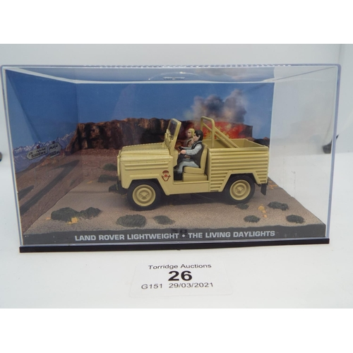 26 - Land Rover Lightweight The Living Daylights 1/43 (C24)