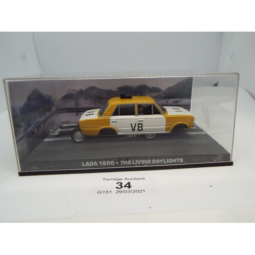 34 - 007 James Bond Car Collection #26 Lada 1500 (The living daylights) (C24)
