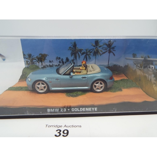 39 - James Bond Car Collection - BMW Z3 - Goldeneye 1:43 (C24)