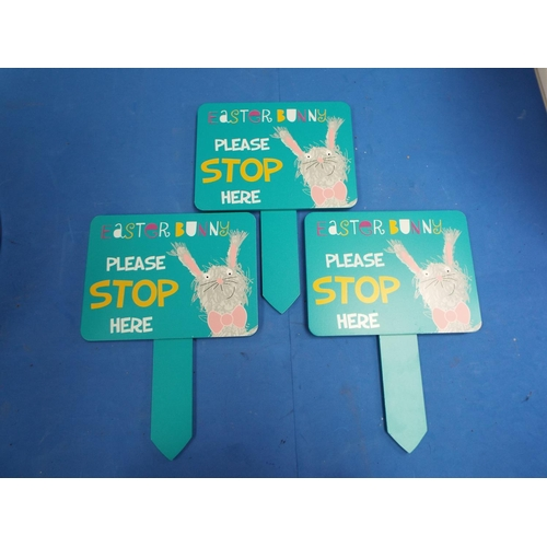 42 - Three Easter Bunny Sign  (C8)
