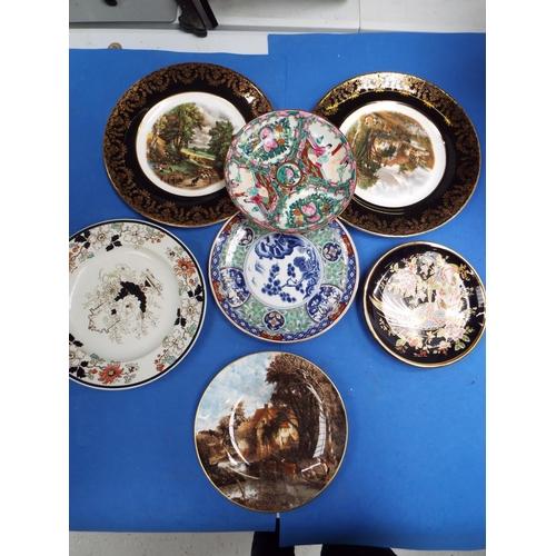 43 - Seven Decorative Plates inc Ashworth Ironstone and Coalport (C24a)