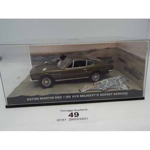 49 - Aston Martin DBS Diecast Model Car from James Bond On Her Majesty's Secret Service (C24)