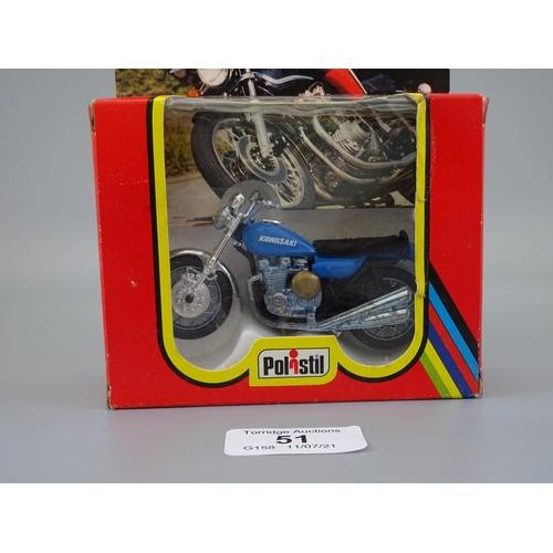 51 - BNIB Polistil Kawasaki 900cc (GT 657) 1:24 Scale (C0)