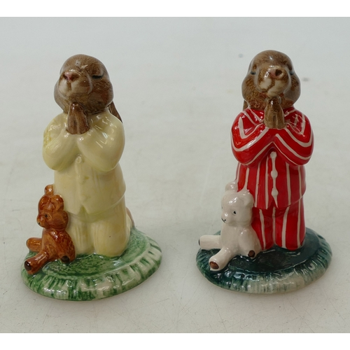 1 - Royal Doulton Bunnykins figures Bedtime DB103 and Bedtime DB63, both USA special event colourways, b...