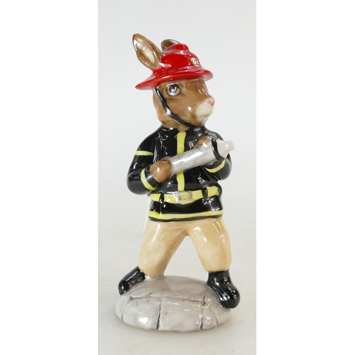 16 - Royal Doulton Bunnykins figure American Firefighter DB268, limited edition, with cert...