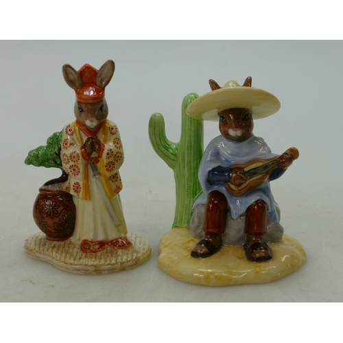 17 - Royal Doulton Bunnykins figure Mexican DB316 and Samurai DB280, both limited edition with cert's (2)...