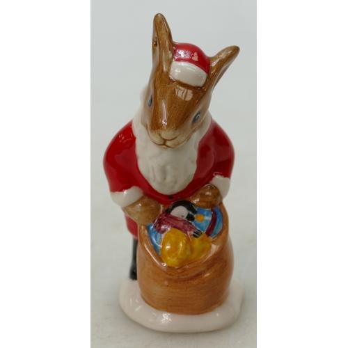 6 - Royal Doulton Bunnykins figure Santa Christmas tree ornament DB62, boxed...