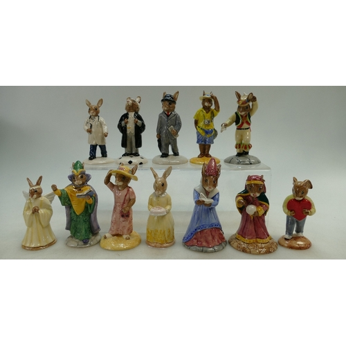 10 - A collection of Bunnykins figures to include 60th Anniversary, Morris Dance DB204, Sweetheart DB130,...