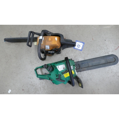 11 - Gardenline branded 45cc and Mae 335 branded vortex AIR system Petrol Chain saws (2)...
