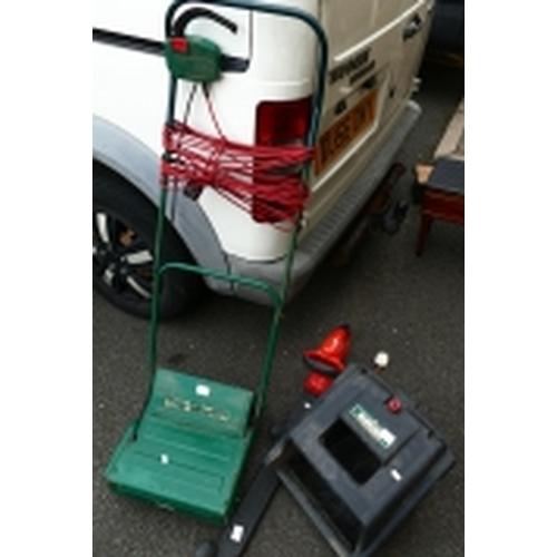 7 - Electric Qualcast Lawn Raker Scarifier RE30, Flymo hedge cutter (2)...
