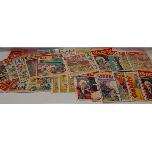 103 - A collection of COMICS and Children's MAGAZINES including TV Action, Rocket, Jackie, Eagle, TV21, (2...