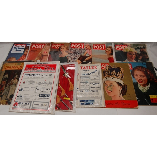 105 - A collection of Picture Post MAGAZINES dated from the 1950's, together with 1933 and 1953 editions o...