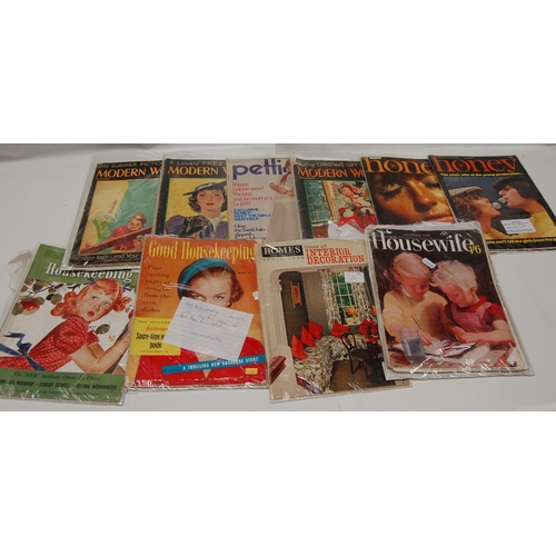 106 - A mixed collection of 1950/60's MAGAZINES including Good Housekeeping, Home, Housewife, Modern Woman...