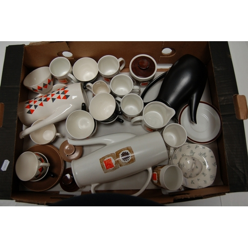 109 - A collection of Empire Porcelain Company Ironstone mid century Tea and Coffee ware including Cups, S...