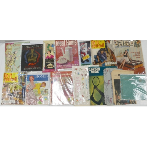 114 - A collection of vintage HOUSEHOLD related PAMPHLETS, BOOKLETS AND BROCHURES etc. including - Ideal H...