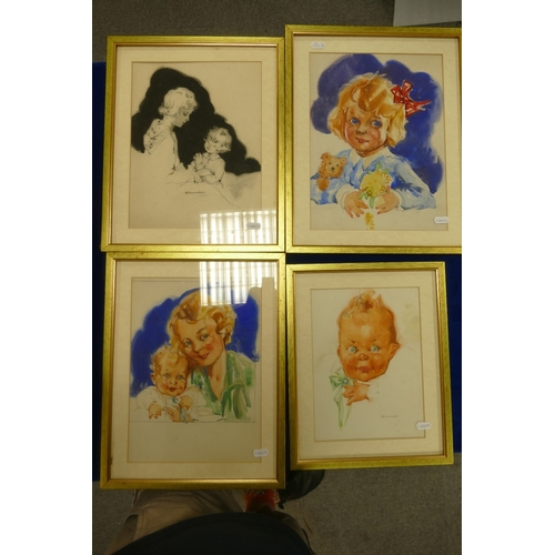 141 - Two original Artwork Mock Ups for United Dairies advertising, signed Alexander and from the Kathleen...