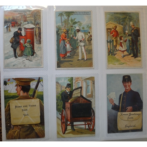 149 - Album of 235 specialist collector postcards - includes a good selection of advertising including som...