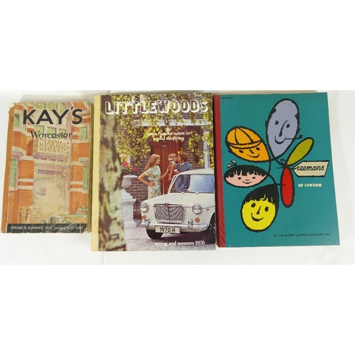 160 - Three CATALOGUES - Freemans of London 1958, Littlewoods Spring and Autumn 1970, and Kays of Worceste...