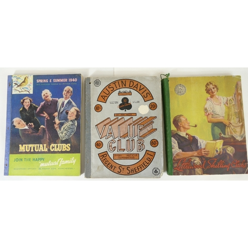 167 - Three fashion catalogues - Austin Davis Sheffield, Value Club catalogue mid century, 1940 Mutual Clu...