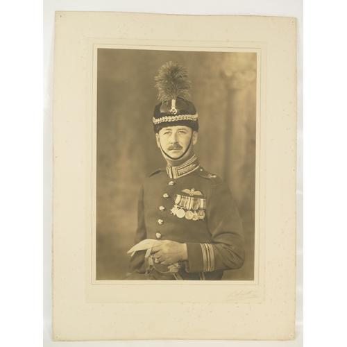 17 - Squadron Leader R L Edward  - large studio portrait bearing full title and description, plus the Laf...
